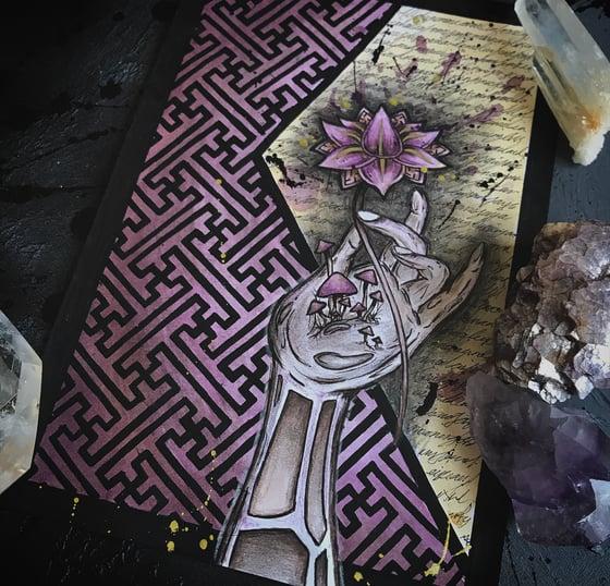 Image of Lotus- original and prints