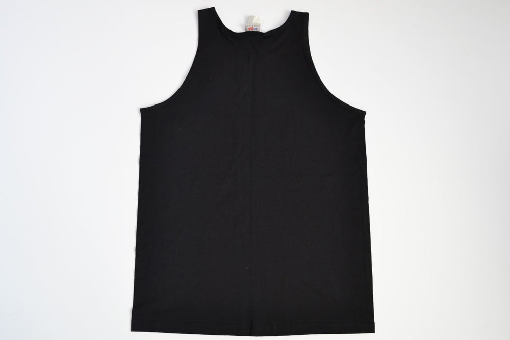 Image of Vintage 1990's Perry Ellis America Spell Out Tank Top Sz.L