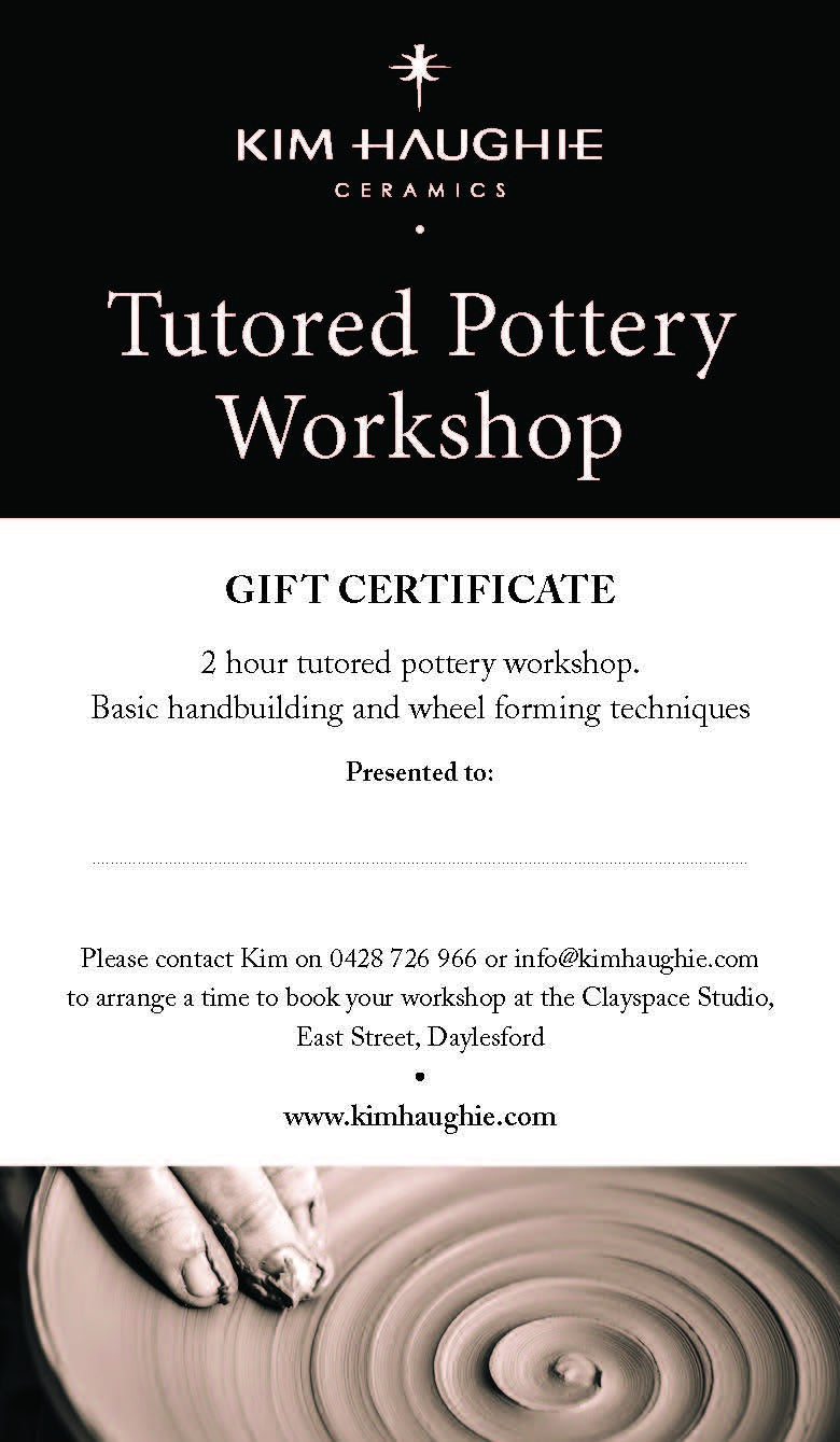 2hr Private tutored pottery workshop