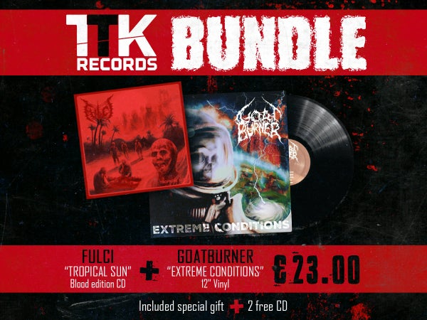"Image of BUNDLE: FULCI ""Tropical Sun"" (CD) + GOATBURNER ""Extreme Conditions"" (LP)"