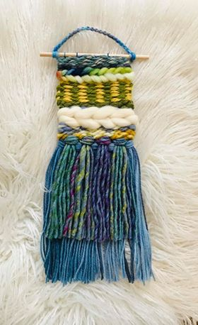 Small Loom Weaving with Fibre Pack and Instructions Kit