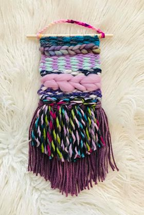 Small Loom Weaving with Fibre Pack plus Instructions Kit