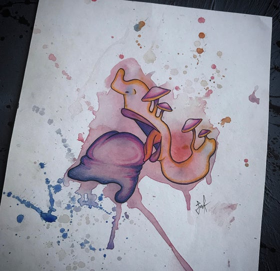Image of Water colour erotica original