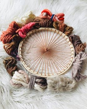 Tabby Weaving Kit with Circular Loom, Fibre Pack, Needle and Instructions