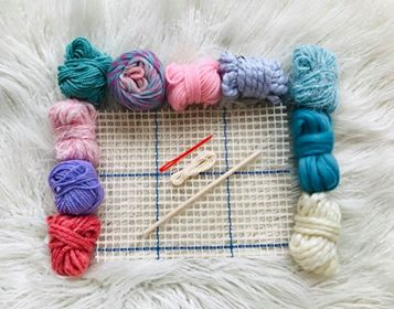 Image of Latch Hook Weaving KIt in Pastel Colours