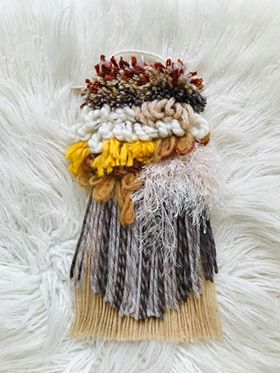 Latch Hook Weaving KIt in Natural Colours