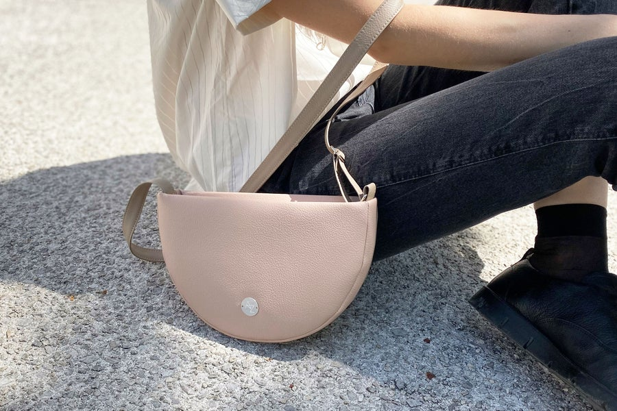 Image of Half moon bag • dusty rose