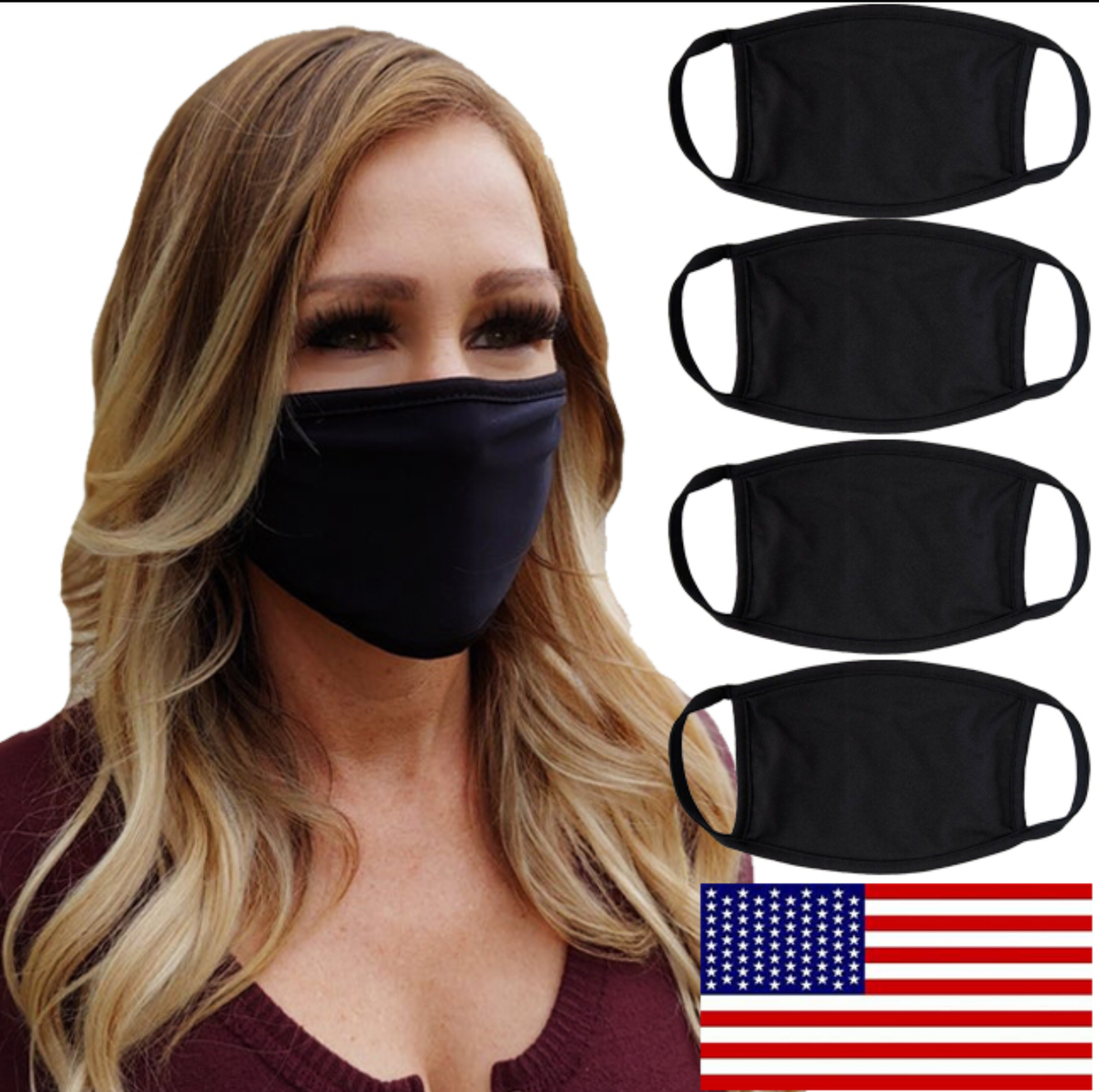 """Two Felons """"BLACK"""" face mask"""