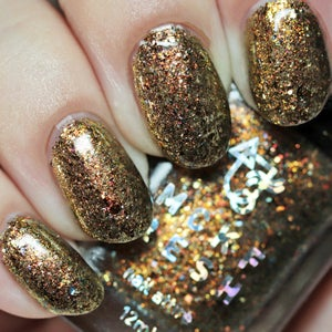 Image of MCKFRESH - All That Glitters – bronze, gold & copper flakies and shimmer in a clear base