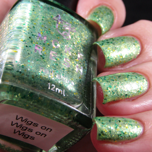 Image of MCKFRESH - The Future of Drag –green with gold shimmer. Emerald & gold