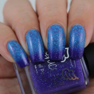Image of Not Today Satan – -purple to blue thermal with UCC flakes and silver hol