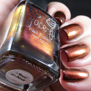 Image of I Need an Adult – A pink-burgundy-bronze-orange multichrome