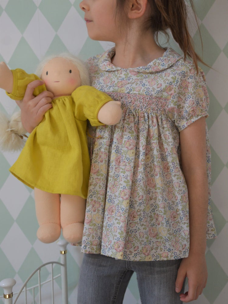 Image of blouse liberty félicite beige et smocks