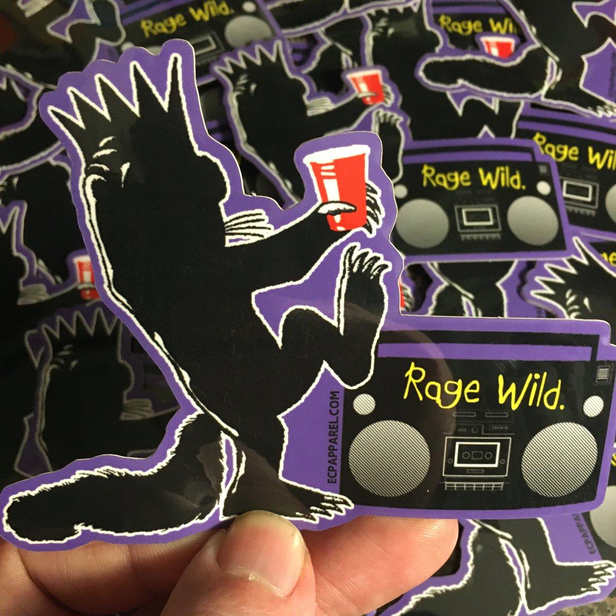 """""""Rage Wild""""- Die-Cut Sticker"""