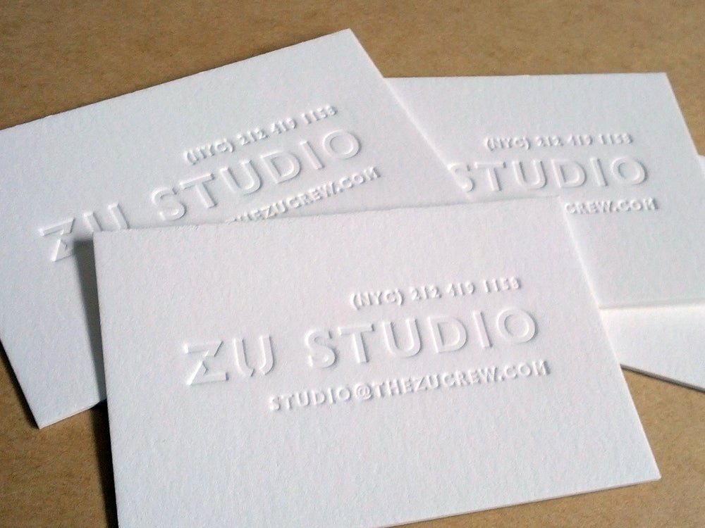 Image of Letterpress business cards, Carolina R