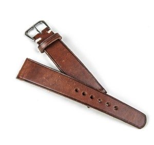 Image of SAMPLE SALE Burnished Calfskin Classic Watch Strap