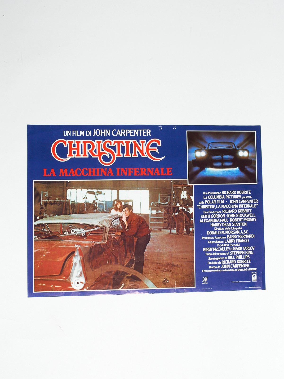 CHRISTINE LA MACCHINA INFERNALE LOBBY CARD
