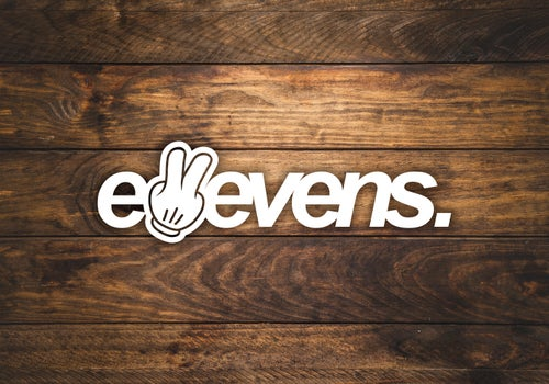 Image of E11evens 200mm 2 fingers up sticker