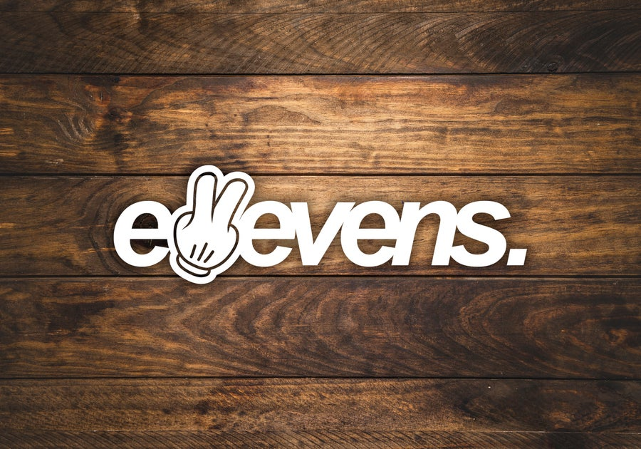 Image of E11evens 600mm 2 fingers up sticker