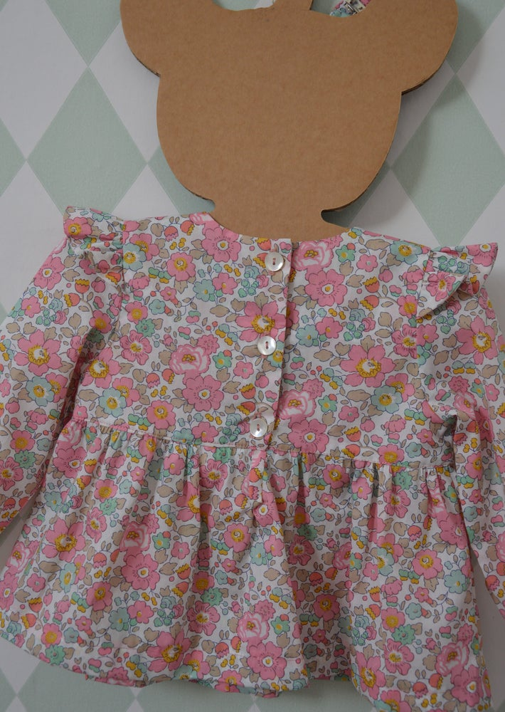 Image of Blouse en liberty besty cupacke à  petits volants