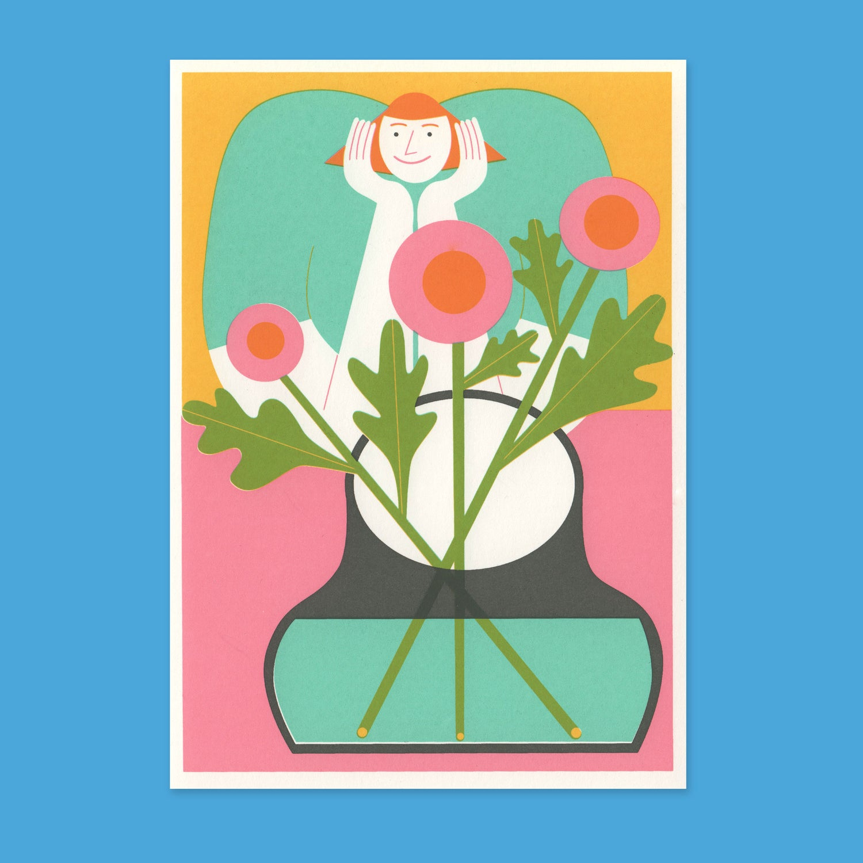 Image of Flowers + Smile – 12,2 x 17,6 cm