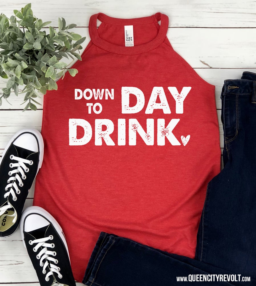 Image of Down to Day Drink, Heather Red