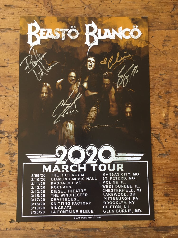 Image of OFFICIAL - BEASTO BLANCO - SIGNED MARCH 2020 TOUR POSTER