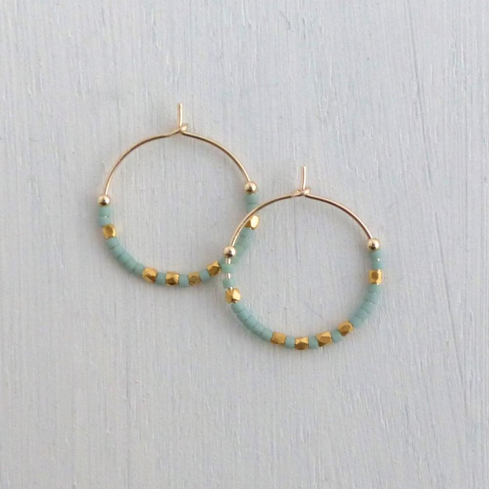 Image of Medium Fair Trade Evening Hoop Earrings