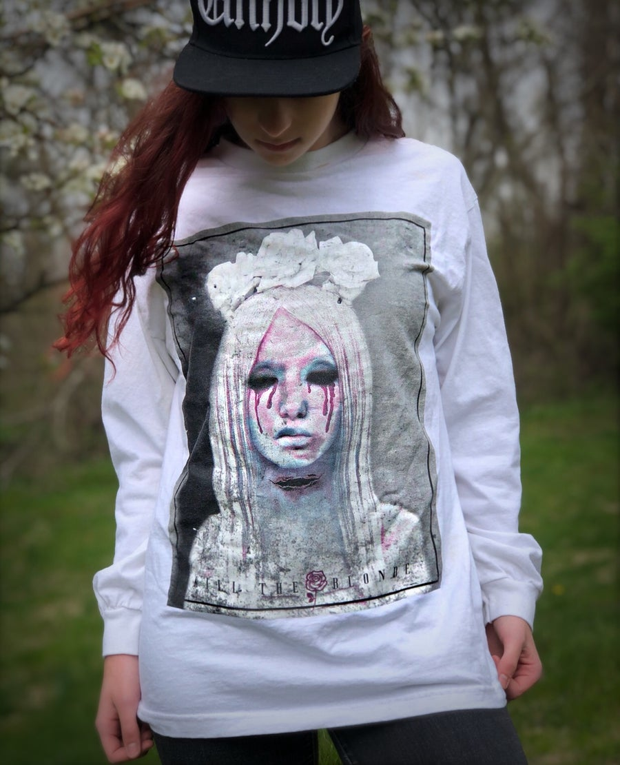 "Image of ""If only you knew"" long sleeve white shirt"
