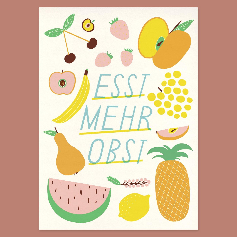 Image of Esst mehr Obst – 25 x 35 cm