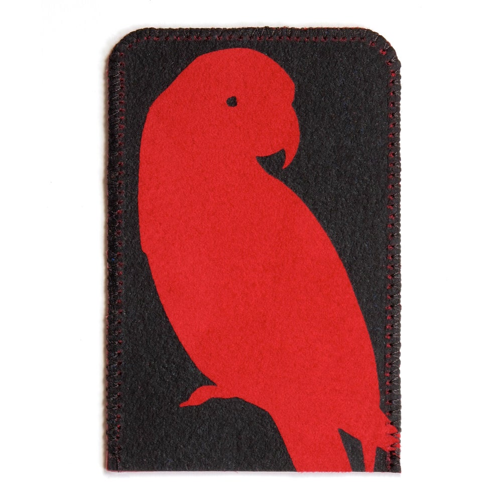 Image of Red Parrot Card Holder