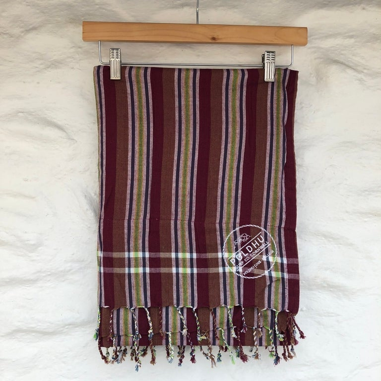 Beach Wrap with Towel Back - Maroon/Navy