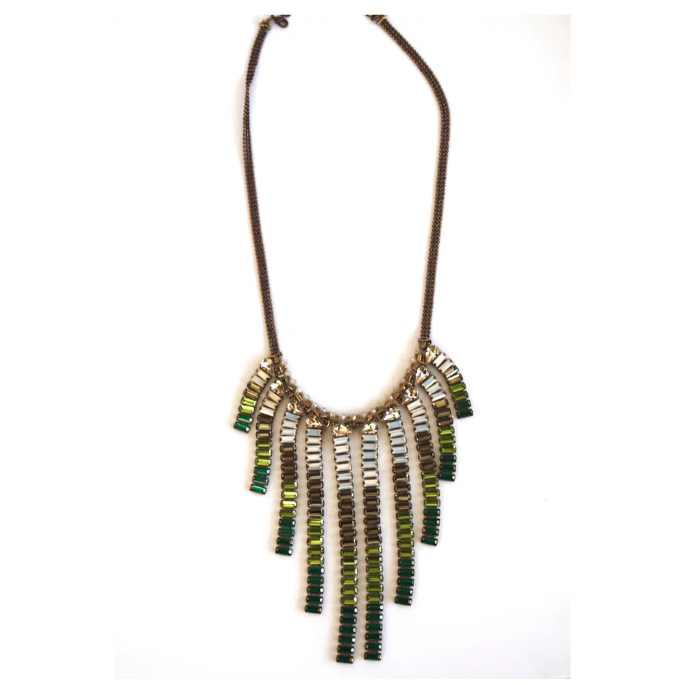 Image of Baguette Fringe Long Necklace