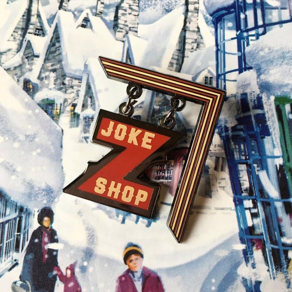 Image of Joke Shop Sign Pin