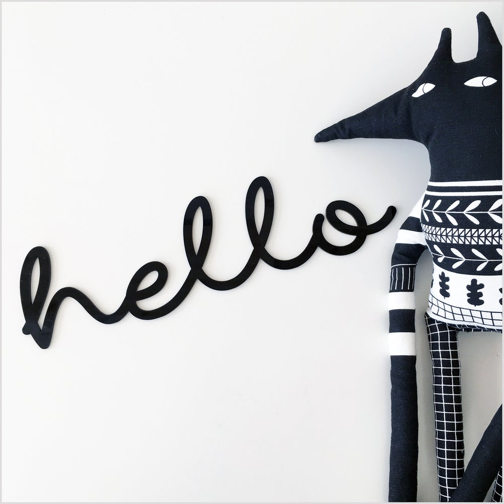 Image of Hello Sign