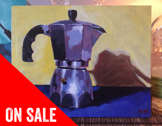 Image of Bialetti Moka Pot painting