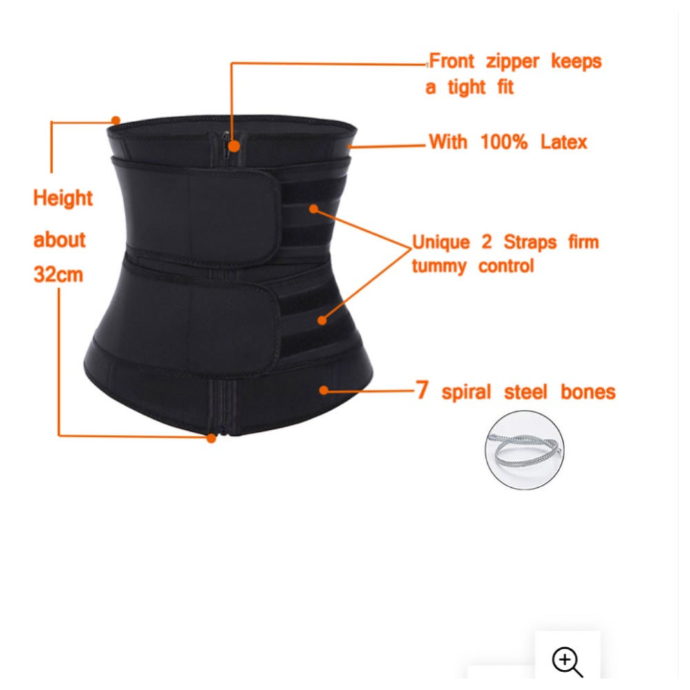 Image of LATEX WAIST SNATCHER DOUBLE STRAP