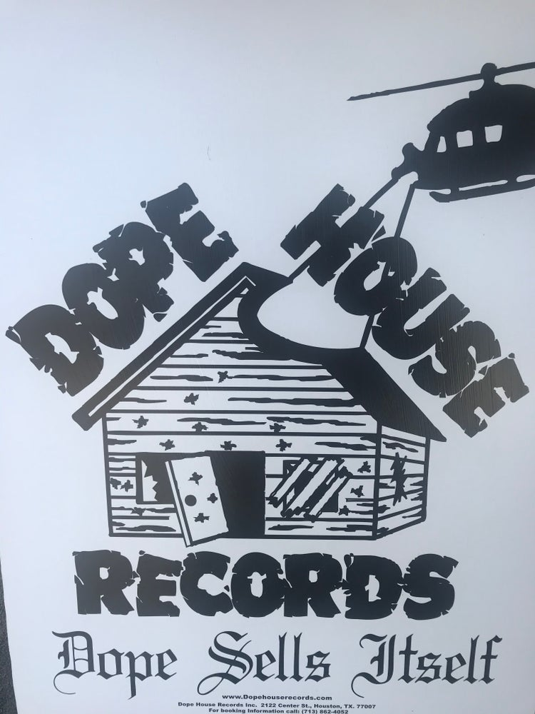 Image of Dope House Records on wood
