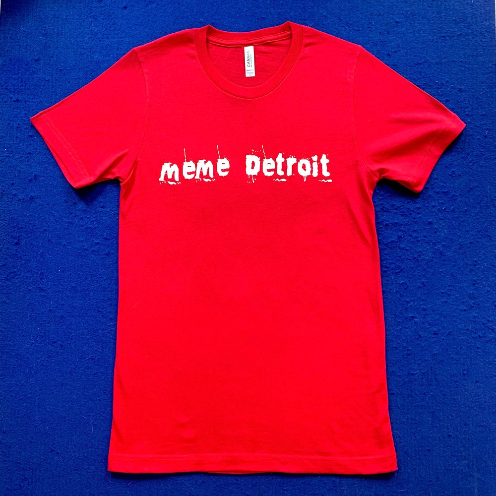 Image of MeMe Detroit logo Tees