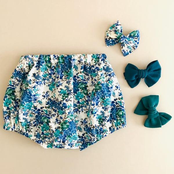 Image of Bloomer coton bleu & vert