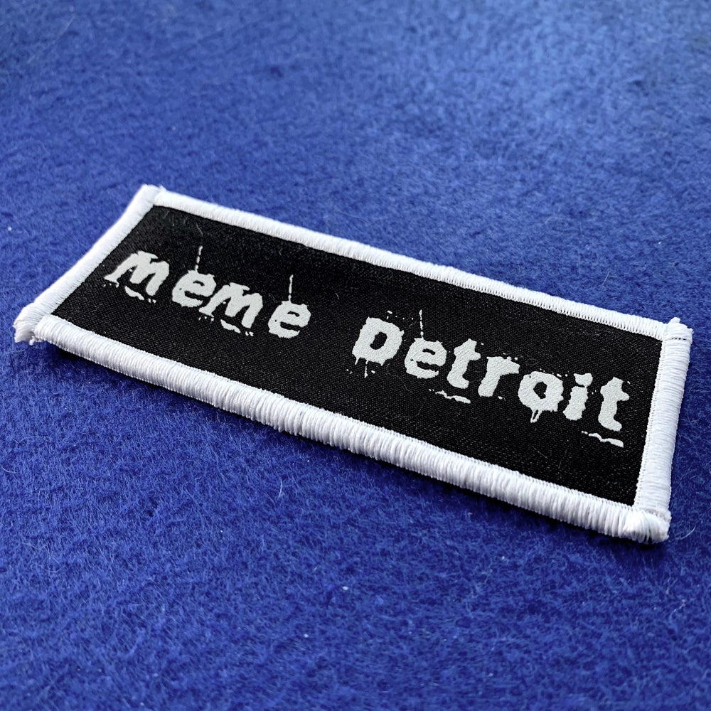 Image of BRAND NEW: MeMe Detroit Iron on patch
