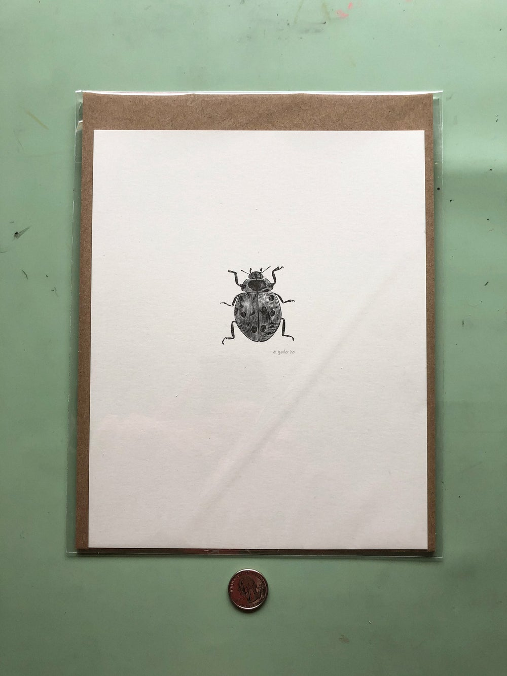 Image of Ladybug Wood Engraving
