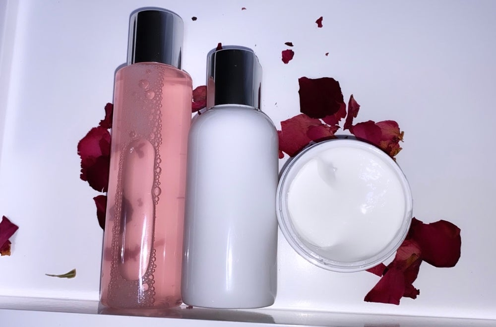 Alaia's Organics Rose Water Cleanser, Toner & Face Cream