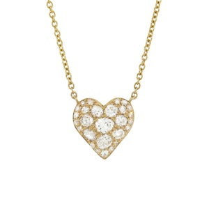 Image of Only Heart Confetti Diamond Necklace