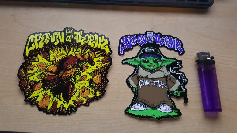 Image of CROWN OF THORNZ 2 PIECE STICKER PACK