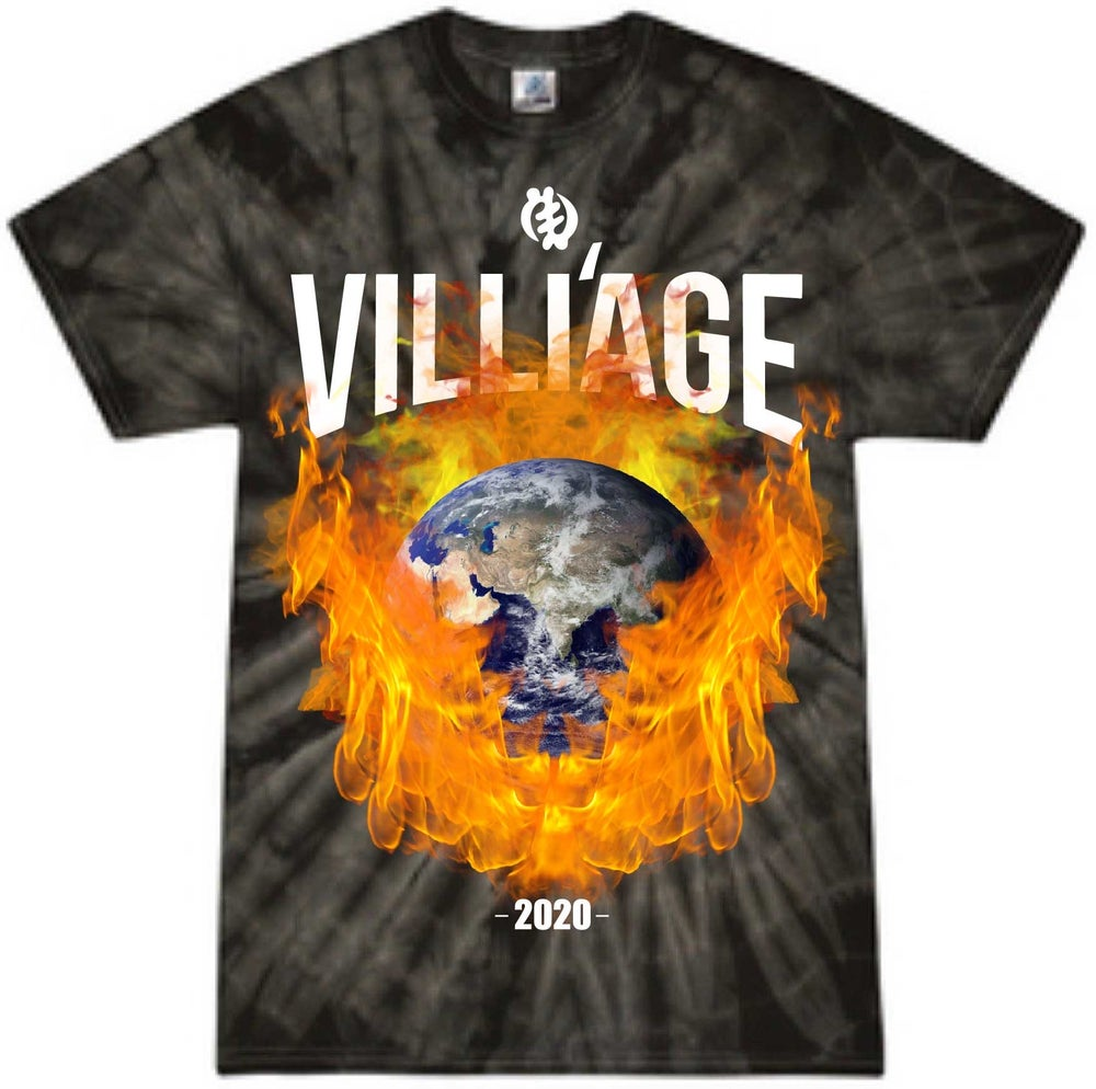 "Image of Villi'age ""Earth on Fire "" Tee  2020"