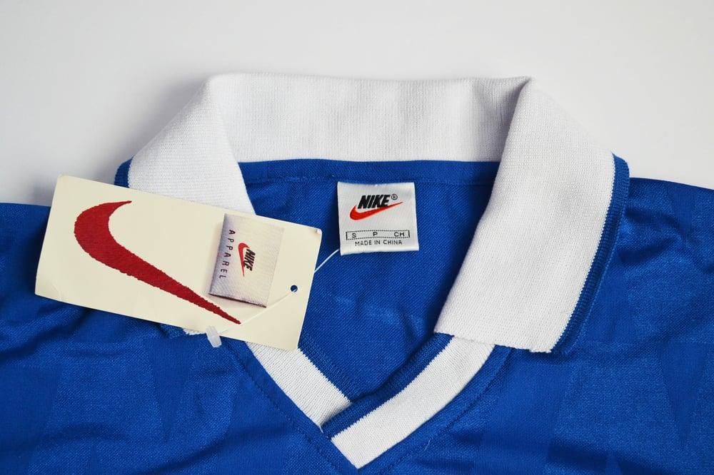 Image of Vintage 1990's Nike Air Tennis Court Logo Collared DriFit Shirt Sz.S
