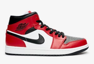 Image of Jordan 1 Mid Chicago Black  Toe