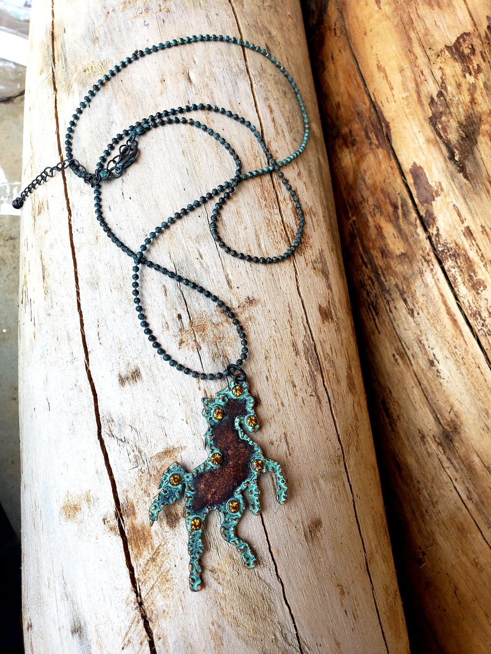 Image of Crystal Horse Necklace