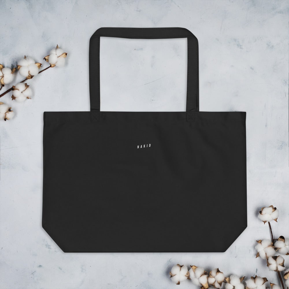 LETS GET NAKID - Large organic tote bag